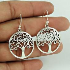 Life of Tree 925 Sterling Silver Earrings Grossiste