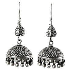 Kashmiri Jhumki! 925 Sterling Silver Jhumka Earrings Exporter
