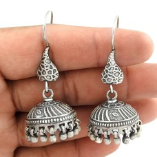 Classy Style ! 925 Sterling Silver Jhumka Earrings Manufacturer