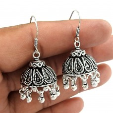 Passionate Modern Style Of! 925 Sterling Silver Jhumka Earrings Wholesaler India