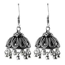 Fantastic Quality Of! 925 Sterling Silver Jhumka Earrings Supplier India