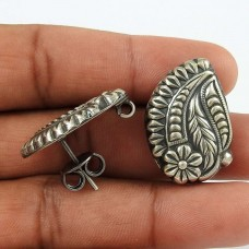 Amazing ! Leaf Design 925 Sterling Silver Earrings Wholesale Price