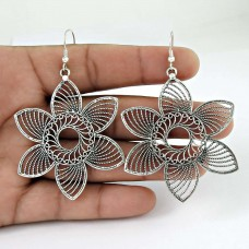Large Stunning! 925 Sterling Silver Earrings Fabricante