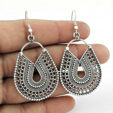 Mystic Princess !! Oxidized 925 Sterling Silver Earrings Supplier