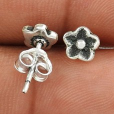 Abstract ! Flower Design 925 Sterling Silver Stud Earrings Wholesale