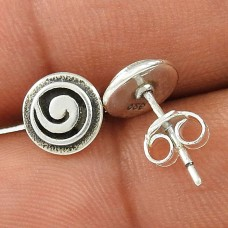 Caribbean Sea ! 925 Sterling Silver Chakra Stud Earrings Wholesale