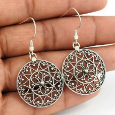 Clinquant ! 925 Sterling Silver Filigree Earrings Wholesale
