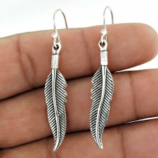 Big Special Moment!! 925 Sterling Silver Leaf Earrings Wholesale Price