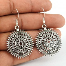 Chakra Design ! 925 Sterling Silver Dangle Earrings Wholesaler