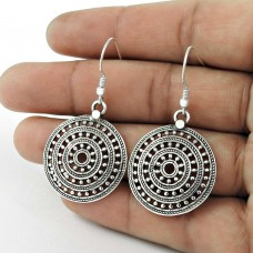 Beautiful Mesh 925 Sterling Silver Dangle Earrings Wholesale Price