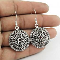 Classy ! 925 Sterling Silver Dangle Earrings Wholesaler India
