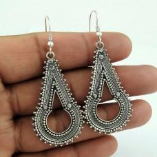 Tempting Oxidized Handmade 925 Sterling Silver Earrings Al por mayor