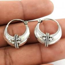 Dainty Daisy Silver Jewellery Hoop Earrings Fabricant