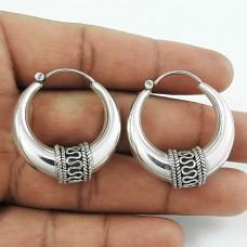 Elegant Silver Jewellery Hoop Earrings Großhandel