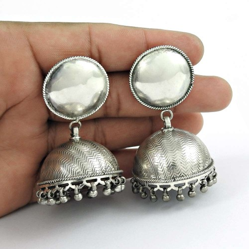Excellent 925 Sterling Silver Jhumka Indian Jewellery Exporter