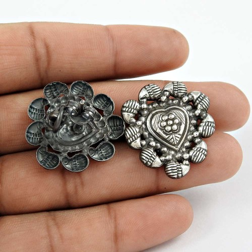 Hot Selling 925 Sterling Silver Oxidised Handmade Earrings Jewellery Wholesaling