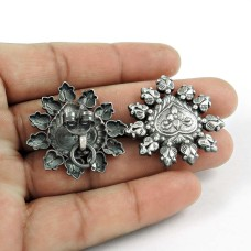 Modern Style Oxidised 925 Sterling Silver Handmade Earrings Jewellery Proveedor