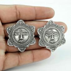 Sun Design Handmade 925 Sterling Silver Stud Earrings Jewellery Wholesale