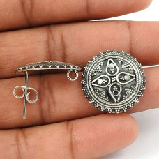 Big Fabulous Solid 925 Sterling Silver Stud Earrings Exporter India