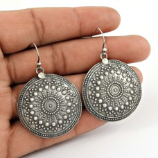 925 sterling silver oxidised Jewellery Party Wear Earrings Wholesale