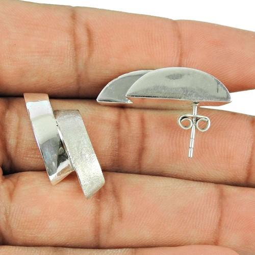 925 Sterling Silver Vintage Jewellery Fashion Silver Stud Earrings Fabricante