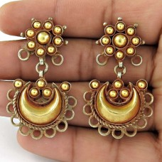 Seemly Gold Plated 925 Sterling Silver Earrings