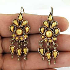 Classic Gold Plated 925 Sterling Silver Earrings