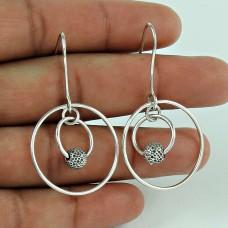 Beautiful Design 925 Sterling Silver Ethnic Earrings Jewellery