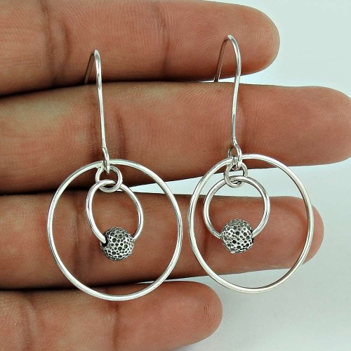 Beautiful Design 925 Sterling Silver Ethnic Earrings Jewellery
