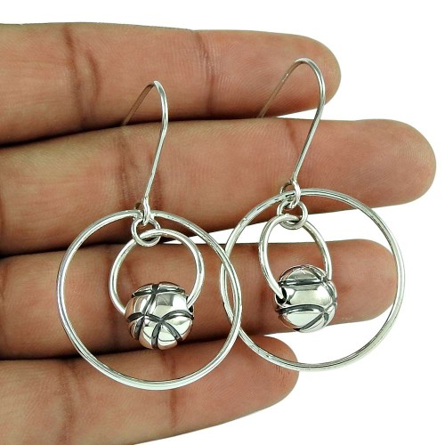 Excellent 925 Sterling Silver Vintage Earrings Jewellery