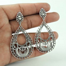 Beautiful 925 Sterling Silver Antique Earring Ethnic Jewellery
