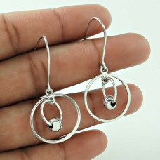Charming 925 Sterling Silver Ball Earring Vintage Jewellery