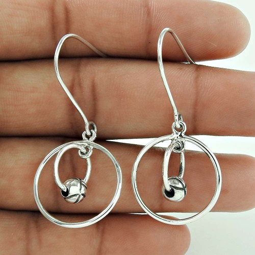 Designer 925 Sterling Silver Indian Earring Jewellery