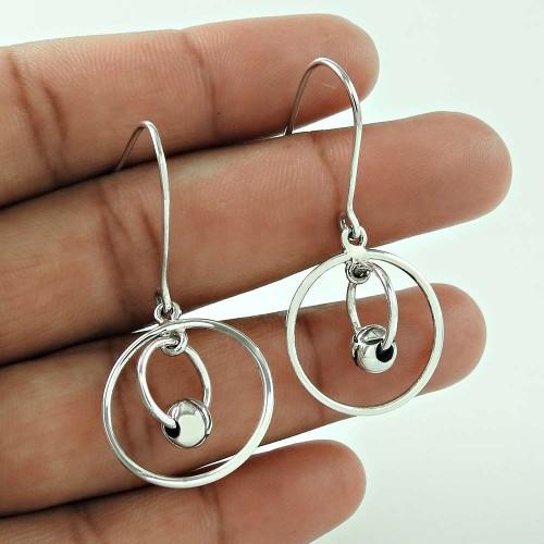 Party Wear 925 Sterling Silver Fashion Earring Jewellery