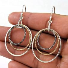 Ornate 925 Sterling Silver Wire Wrap Earring