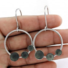 Very Light 925 Oxidized Sterling Silver Unique Earring