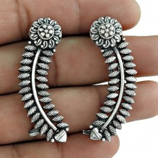 Daily Wear 925 Sterling Silver Earring Jewelry Exporter