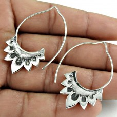 Beautiful Solid 925 Sterling Silver Earring Traditional Jewelry