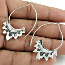 2019 Trend Solid 925 Sterling Silver Earring Vintage Jewelry