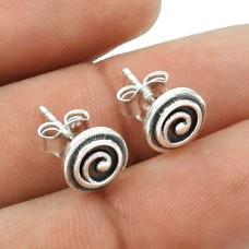 Indian HANDMADE Jewelry 925 Solid Sterling Silver Earring R6
