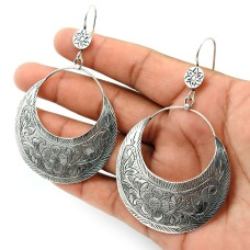 Solid 925 Sterling Silver Earring Handmade Indian Jewelry B29