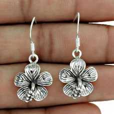 925 Sterling Silver Jewellery High Polish Silver Flower Earrings Fabricant