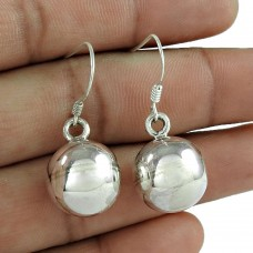Indian Sterling Silver Jewellery Beautiful Silver Ball Earrings Fournisseur