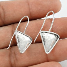 925 Sterling Silver Antique Jewellery Charming Silver Triangle Earrings Wholesaler