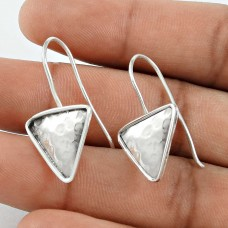 Sterling Silver Jewellery Traditional Silver Triangle Earrings Wholesaler India