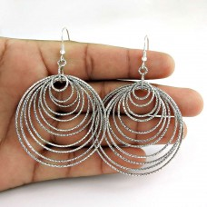925 Sterling Silver Vintage Jewellery Fashion Silver Earrings Proveedor