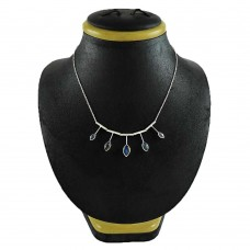 Handy 925 Sterling Silver Labradorite Gemstone Necklace Ethnic Jewelry