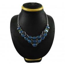 925 sterling silver fashion jewelry Designer Kyanite, Peridot, Amethyst, Garnet, Crystal Necklace