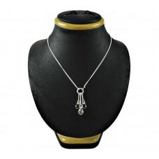 Stunning 925 Sterling Silver Garnet Crystal Gemstone Necklace Jewellery