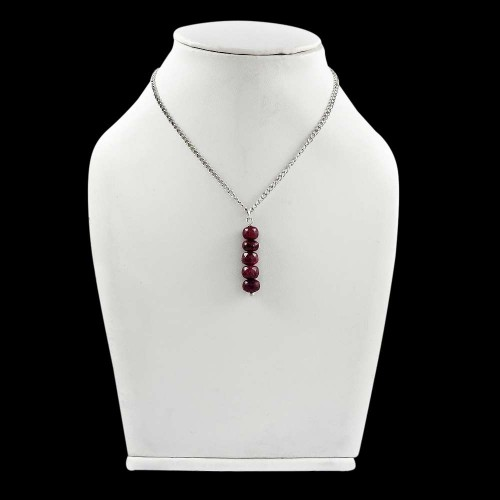 Beauty Queen ! Ruby Sterling Silver Choker Necklace Supplier India